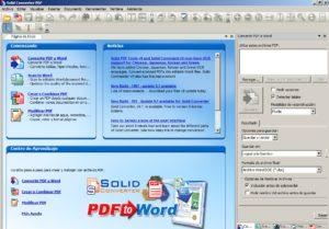 Конвертирование PDF в Word в Solid PDF Tools